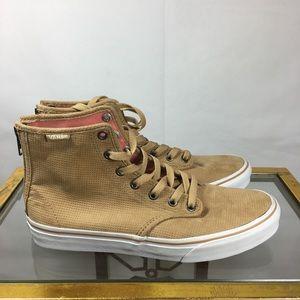 Vans High Top Zip Back Suede Shoes